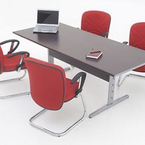 Mesa De Reunião Retangular Caixa Tomadas 6 e 8 Lugares